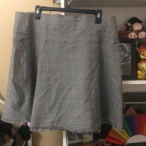 Torrid Plaid/Houndstooth Skater Skirt